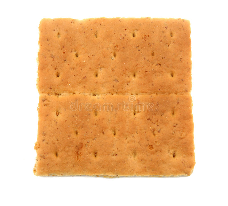 Graham-Cracker getrennt lizenzfreies stockfoto