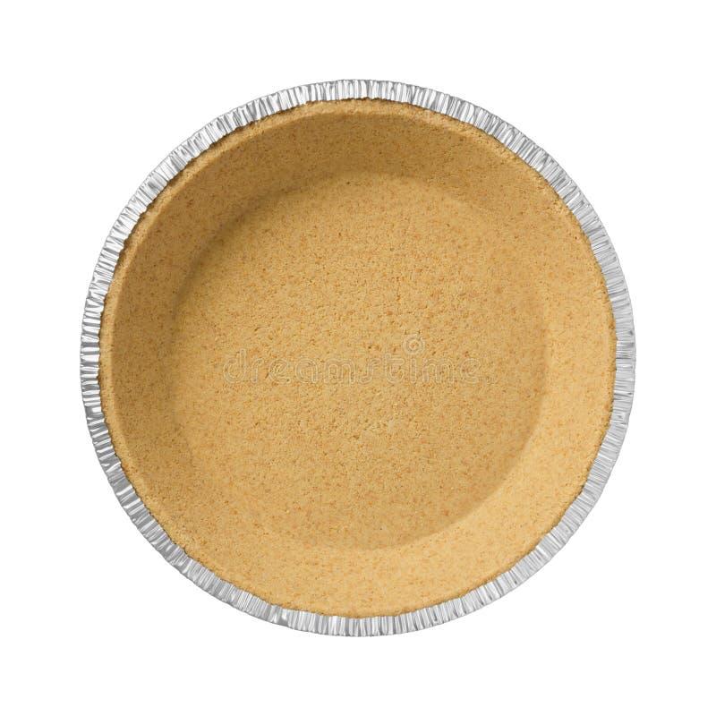 Graham Cracker Pie Crust lizenzfreie stockfotografie