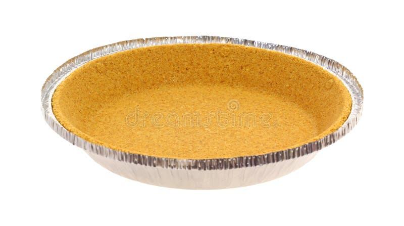 Graham Cracker Pie Crust Side View Stock Image