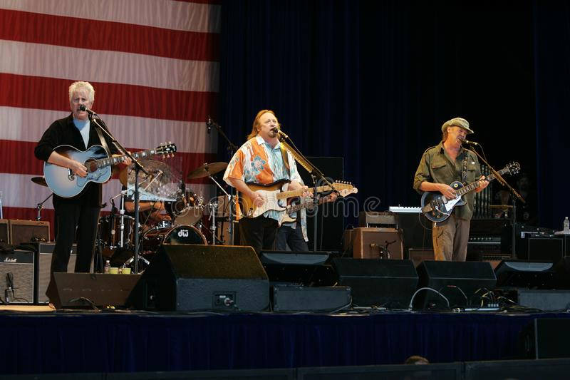 CSNY Perform in Concert royalty free stock photography