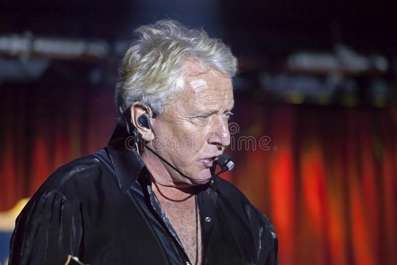 Graham Russell of Air Supply performs at B.B. King blues club an stock image