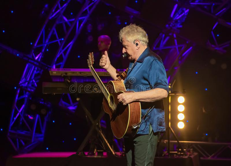Graham Russell from air supply, singing beautiful melody at Epcot in Walt Disney World . 2. Orlando, Florida. March 26, 2019. Graham Russell from air supply royalty free stock photo