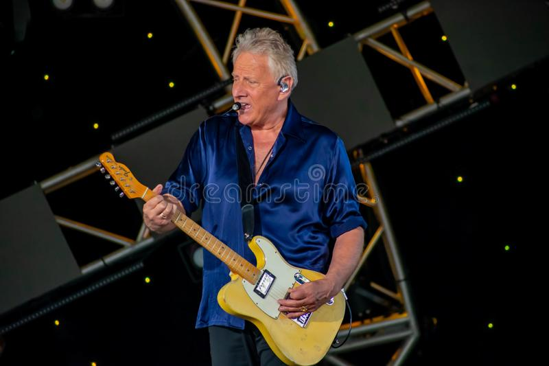 Graham Russell   from air supply, singing beautiful melody at Epcot in Walt Disney World 8. Orlando, Florida. March 26, 2019. Graham Russell   from air supply stock photography