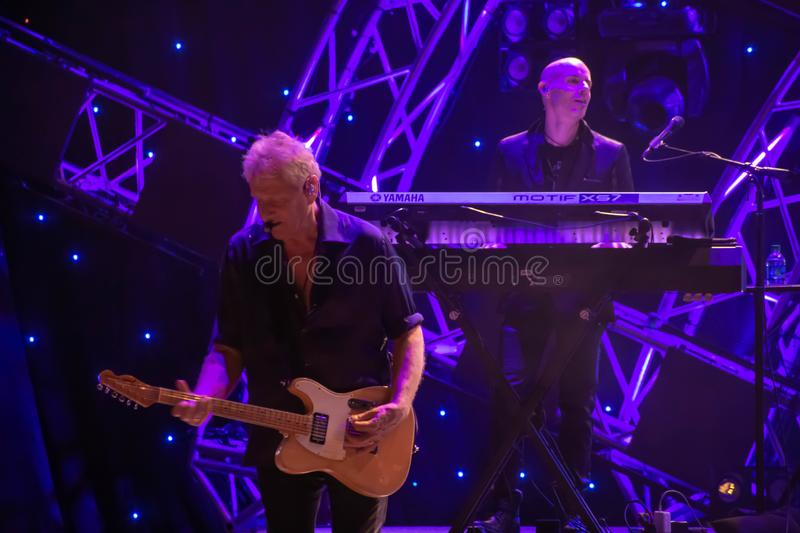 Graham Russell from air supply, singing beautiful melody at Epcot in Walt Disney World  1. Orlando, Florida. March 26, 2019. Graham Russell from air supply royalty free stock photo
