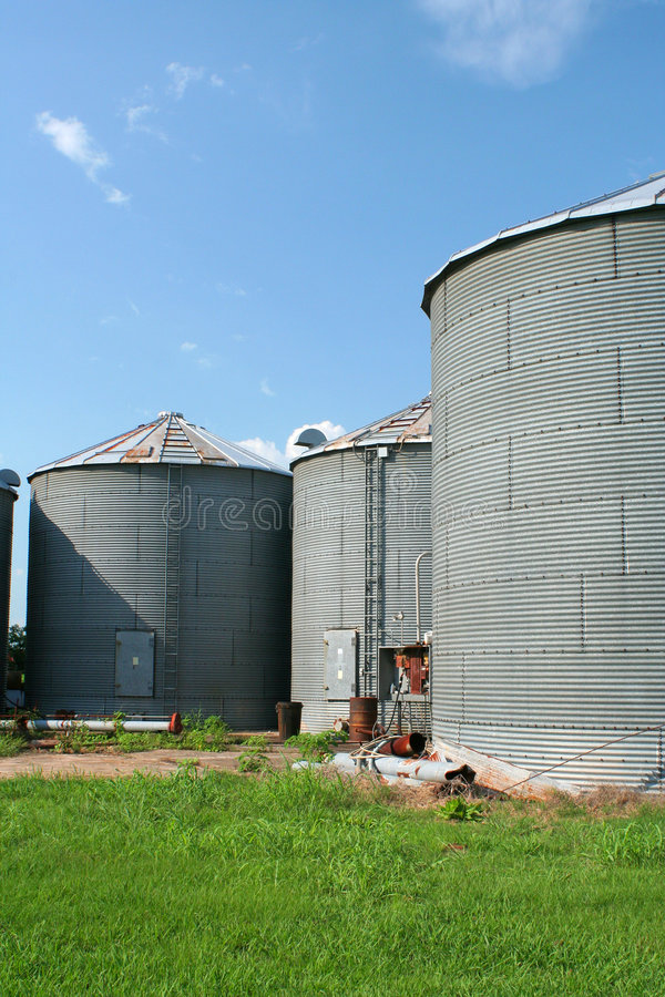 Grain bins stock images