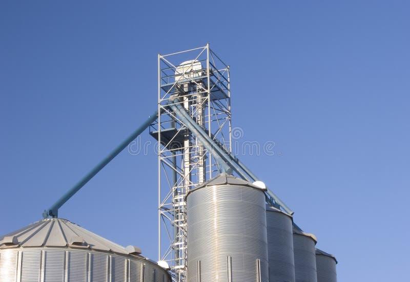 Grain Bins #2 royalty free stock photos