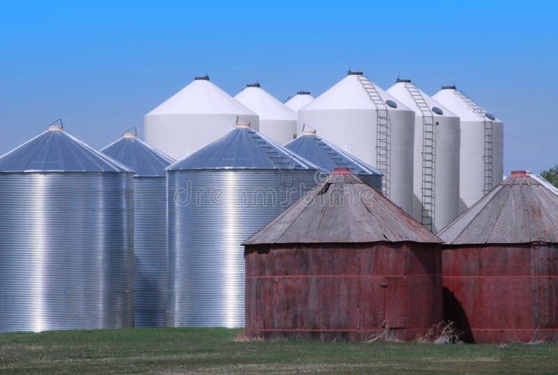 Download Grain Bins on the Prairie stock photo. Image of prairie - 30527008