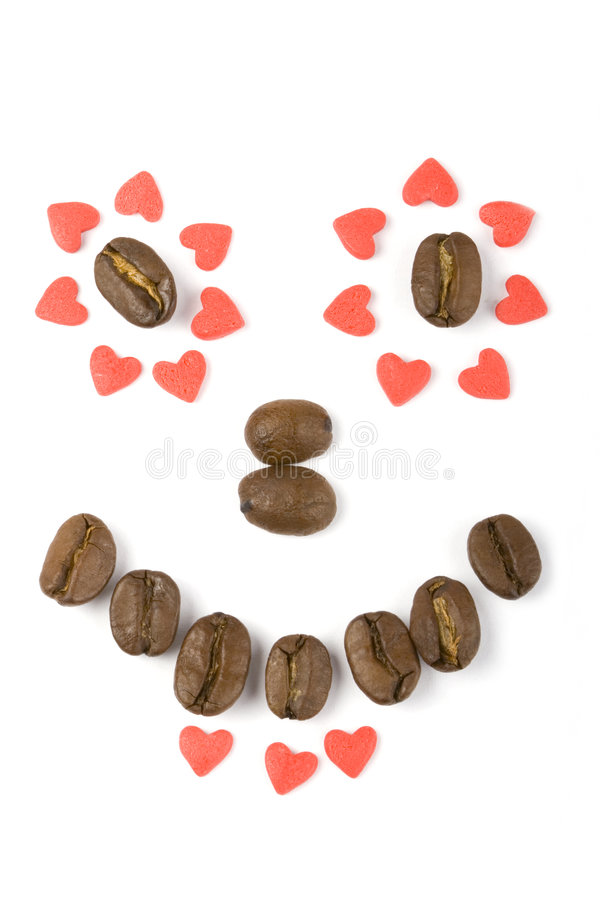 Grain and Coffee Hearts royalty free stock photography