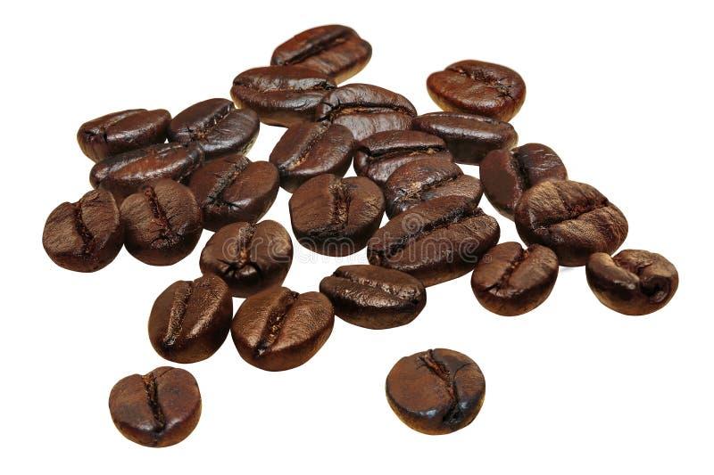 Grain de café d'isolement sur le fond blanc photo stock