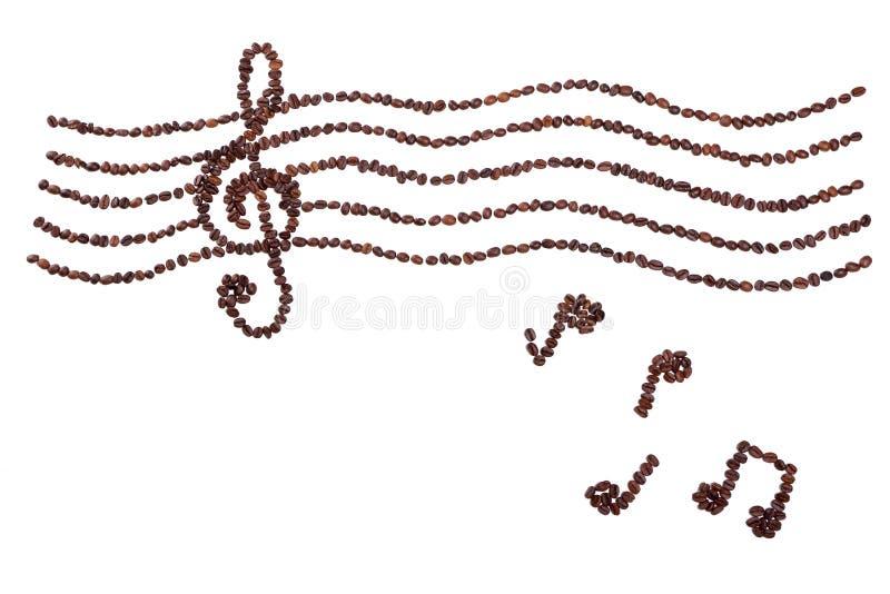 Grain de café dans la musique d'harmonie photo libre de droits