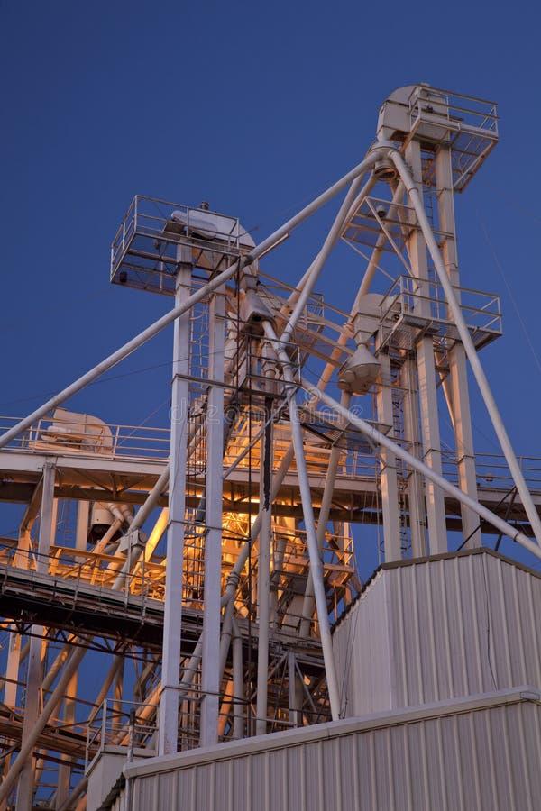 Free Grain Elevator At Night Stock Images - 16514944