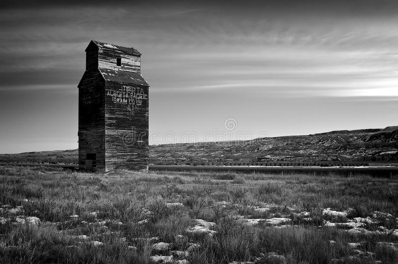 Grain Elevator in Dorothy. Abandoned grain elevator in Dorothy near Drumheller royalty free stock photos