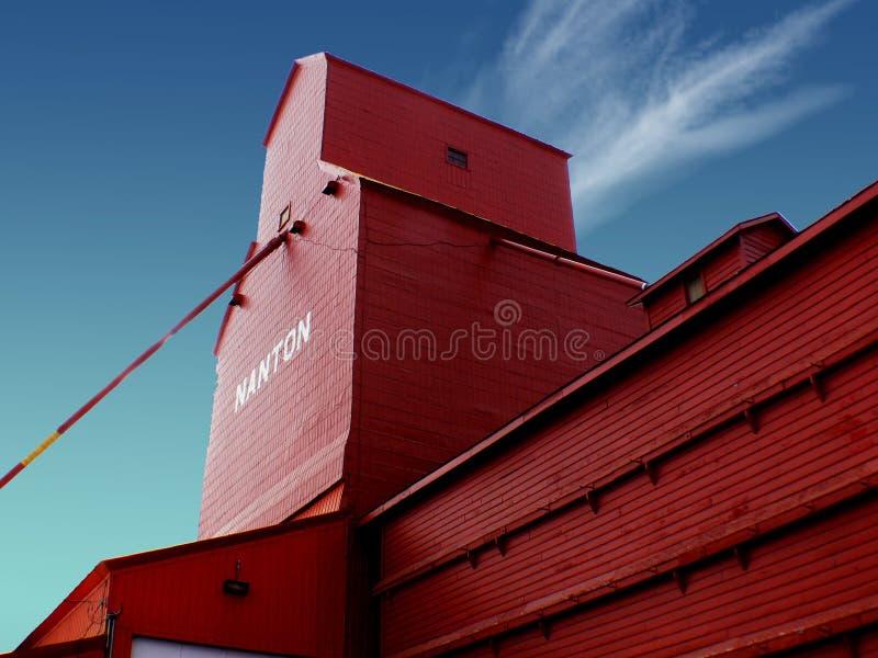 Grain Elevator Nanton Alberta. royalty free stock images