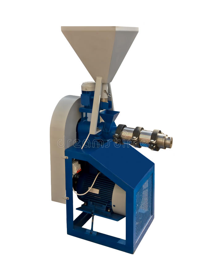 Grain extruder. Is designed for extrusion processes oilseeds, including canola and soybean seeds royalty free stock photography