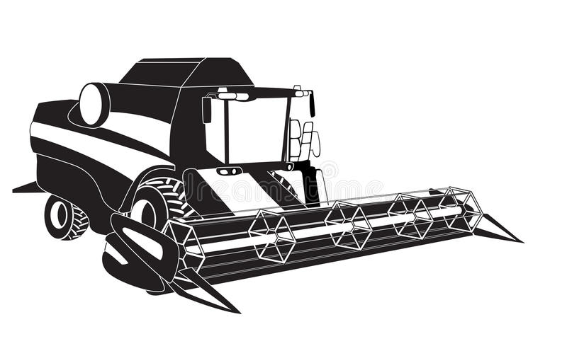 Grain harvester combine. Vector illustration vector illustration