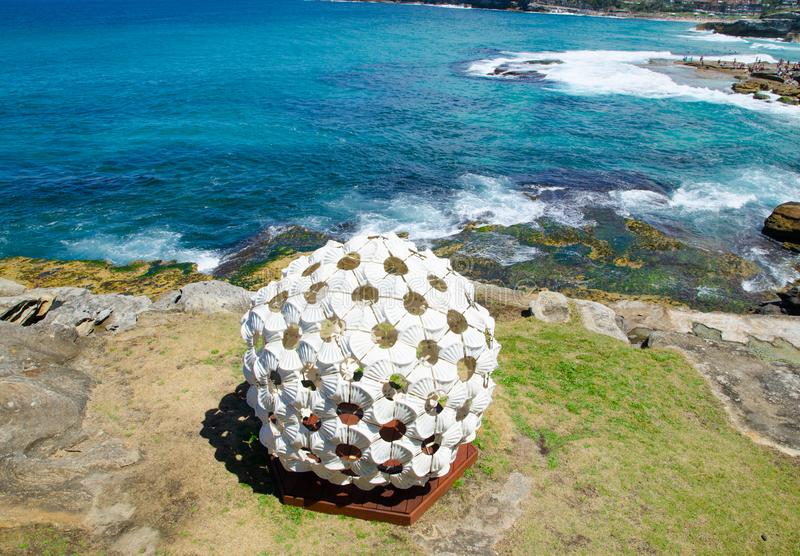 ` In the Grain of Sand ` is a sculptural artwork by Andrea Vinkovic at the Sculpture by the Sea annual events free to the public. SYDNEY, AUSTRALIA. – On stock photos