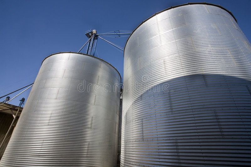 Download Grain Silo stock photo. Image of pipes, docking, supply - 1338450