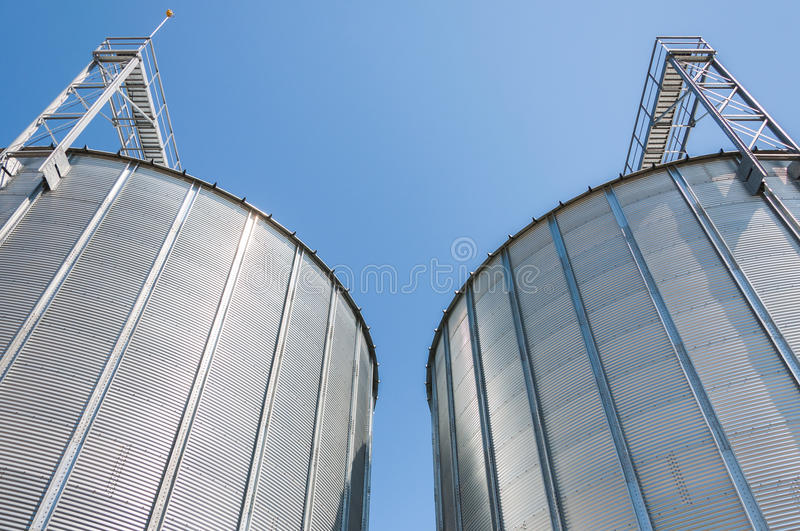 Download Grain silo containers stock image. Image of store, building - 27071735