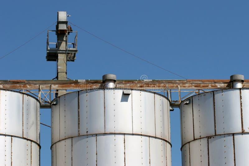Grain silo facility stock photography