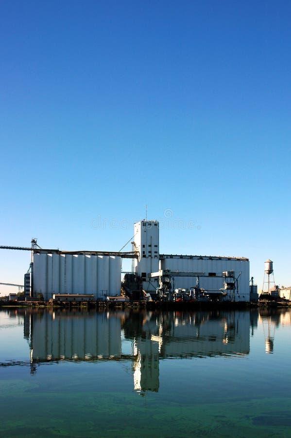 Grain Silo Reflection stock image