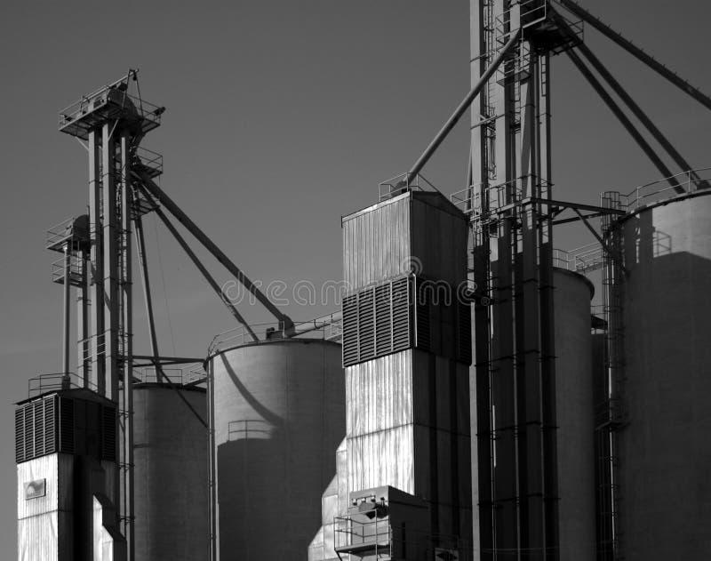 Grain Silos stock images