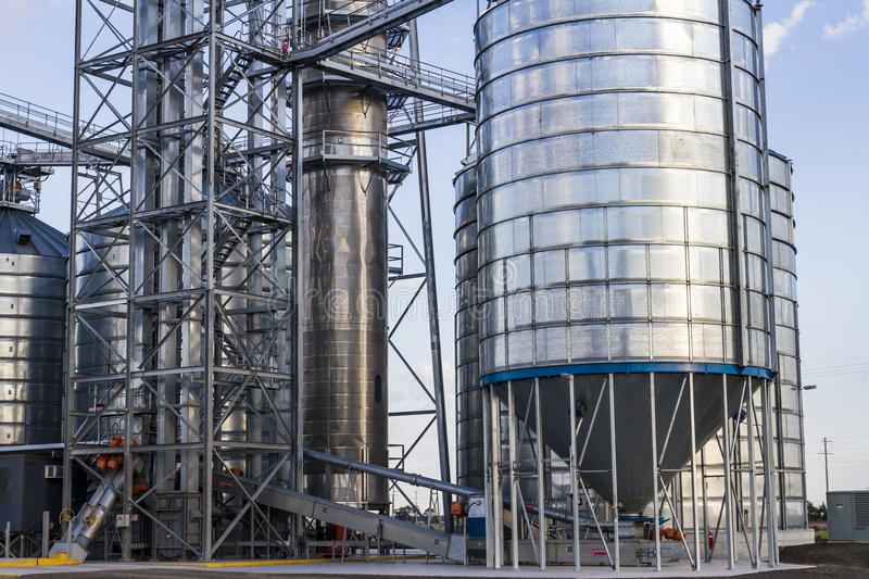Download Grain Silos stock image. Image of commodity, bins, industrial - 27045279