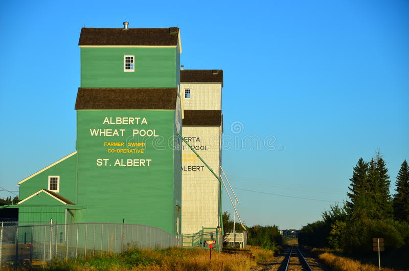 Grain Silos Canada royalty free stock image