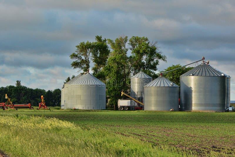 Grain Storage Bins stock image