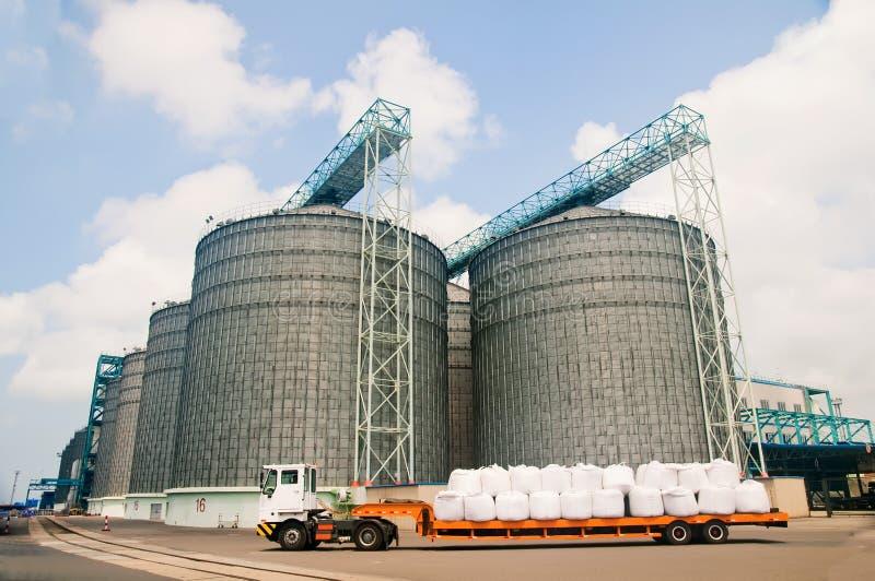 Download Grain storage tanks stock image. Image of farm, structure - 15275251