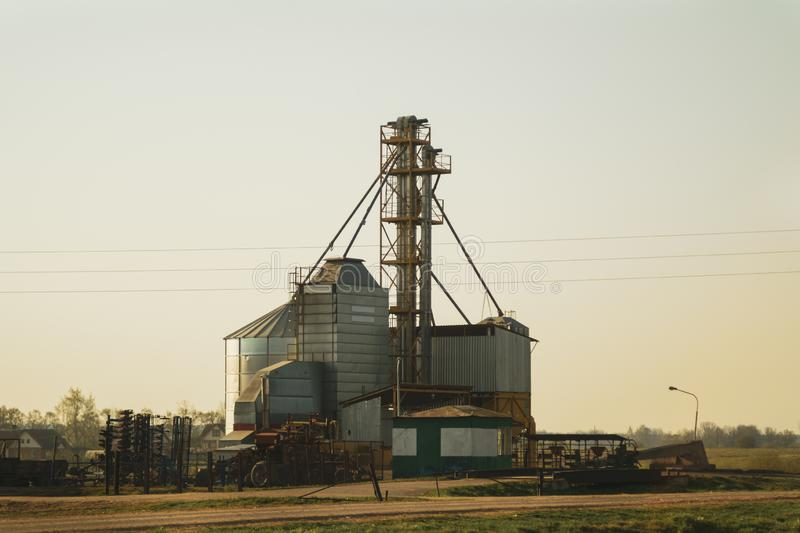 Grain store in the countryside. agriculture factory royalty free stock photo