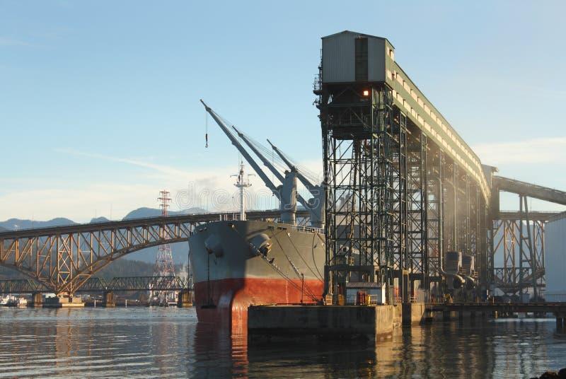 Download Grain Terminal, Burrard Inlet, Vancouver Stock Image - Image: 23472491