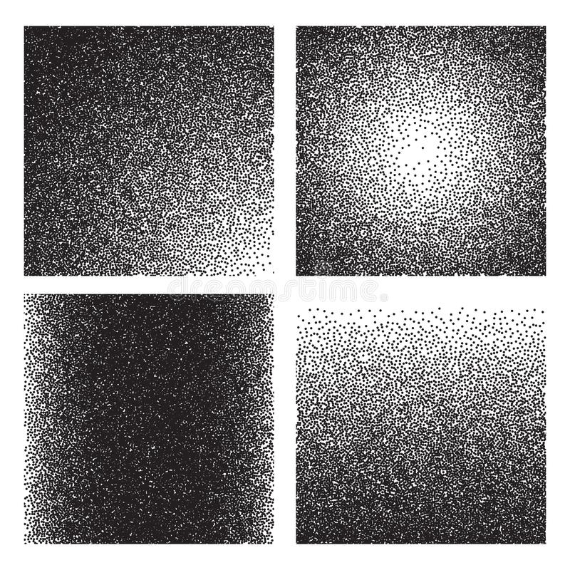 Grain textures. Sketch gradient printed grainy effect. Halftone sand noise grunge backgrounds royalty free illustration