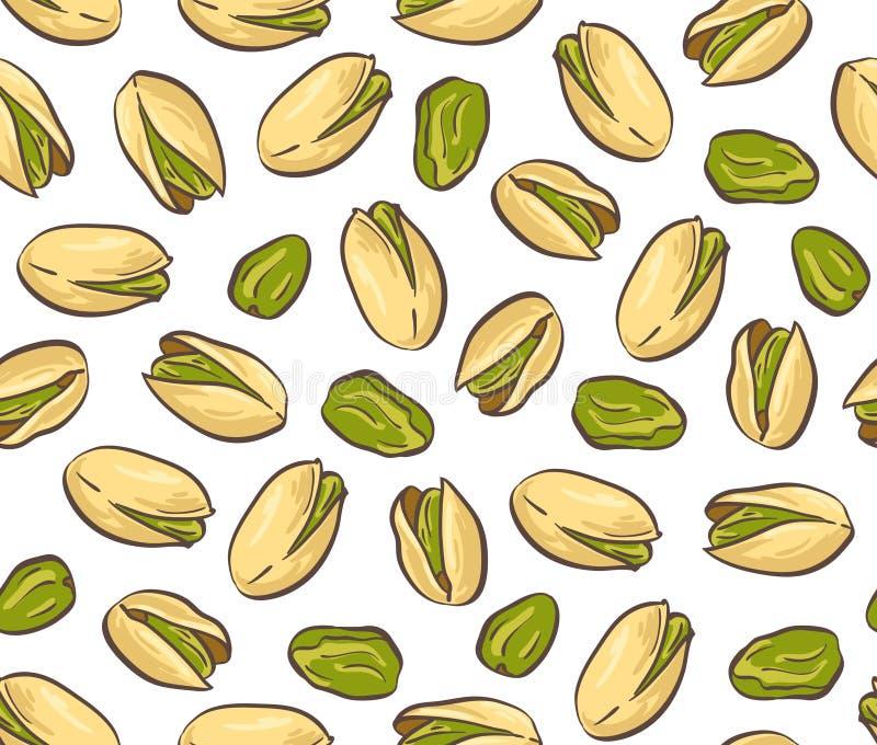 Graine rôtie de pistache avec la coquille Configuration sans joint illustration libre de droits