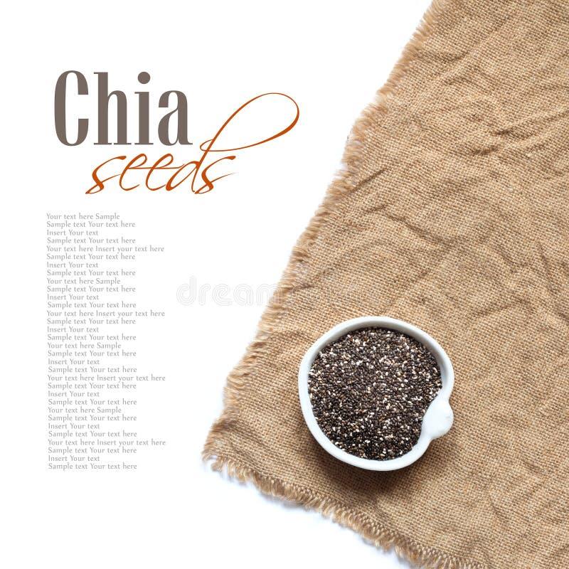 Graines de Chia dans la cuvette images libres de droits