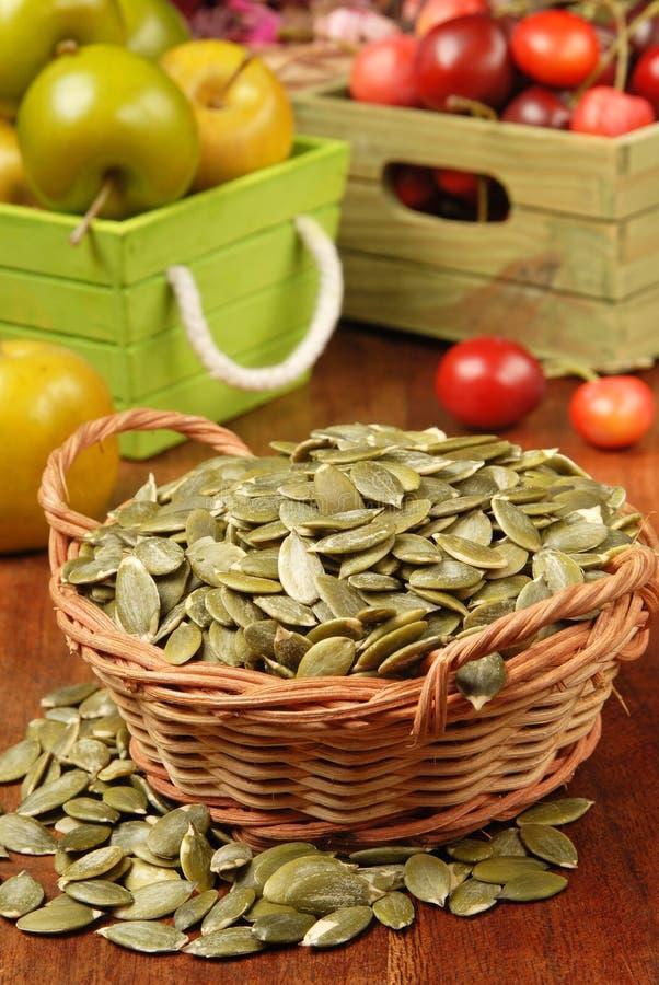 Graines de citrouille photo stock