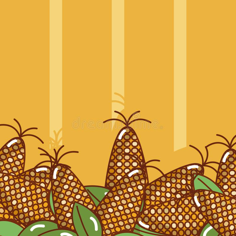 Grains au-dessus de fond coloré illustration stock