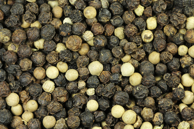Grains of black pepper royalty free stock images