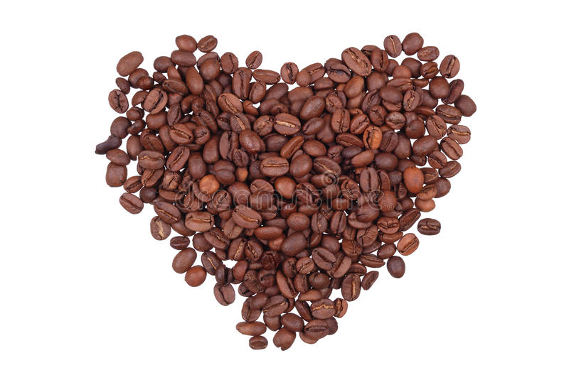 Download Grains Of Coffee In The Form Of Heart Stock Photo - Image: 13230974