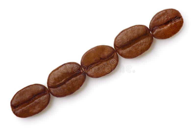 Grains de café. images libres de droits