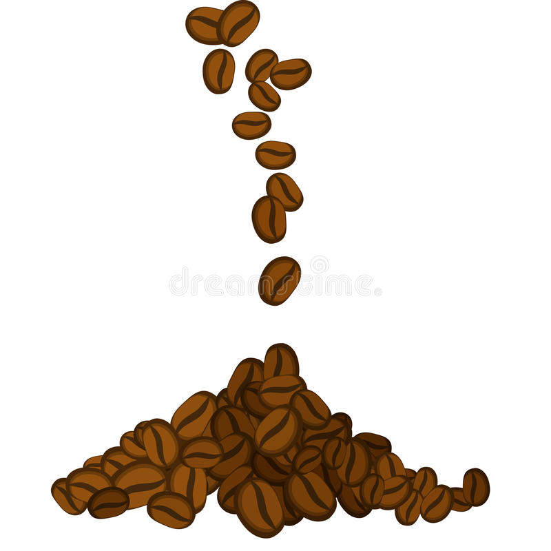 Grains de café illustration stock