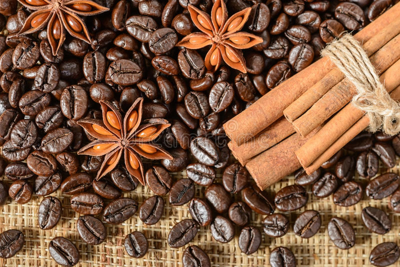 Grains de café images libres de droits