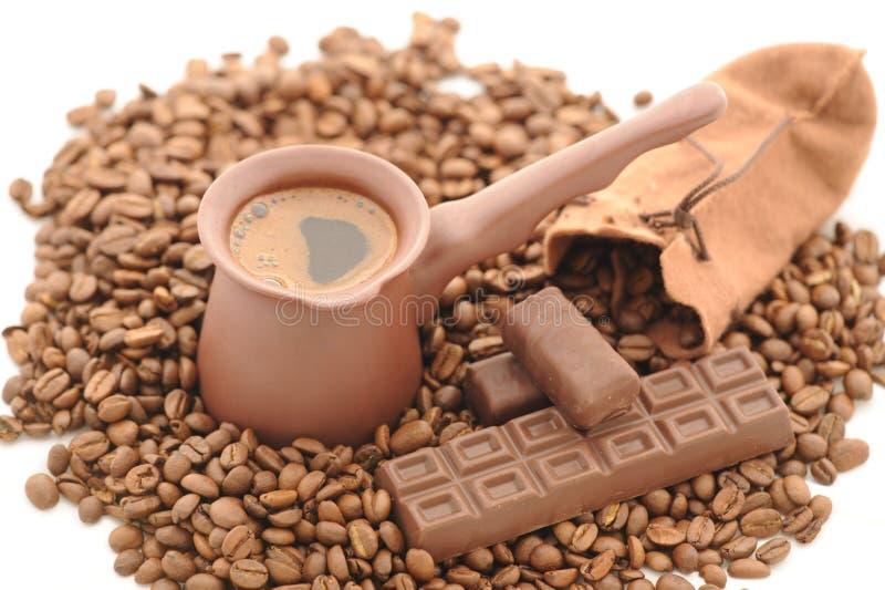 Grains de café. image libre de droits