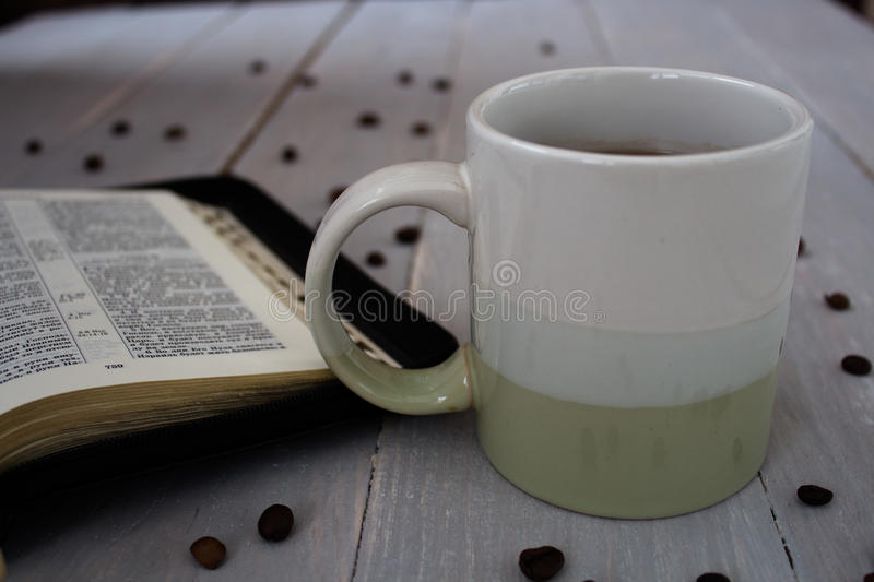 Grains de café de bible photo libre de droits