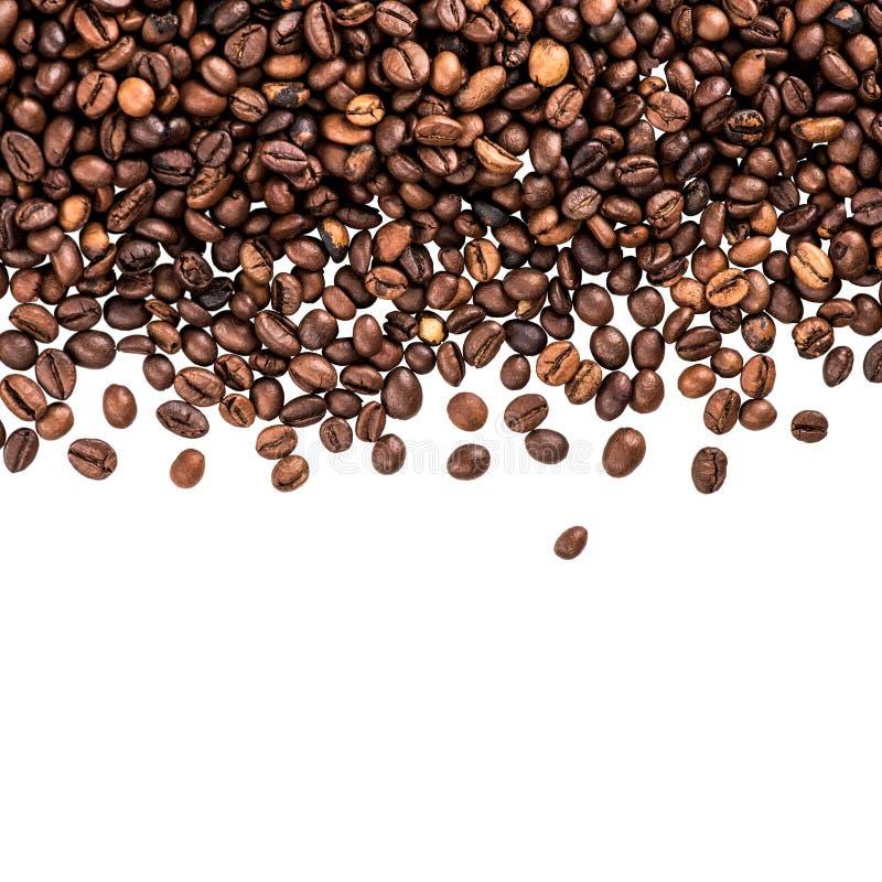 Grains de café de vol image libre de droits