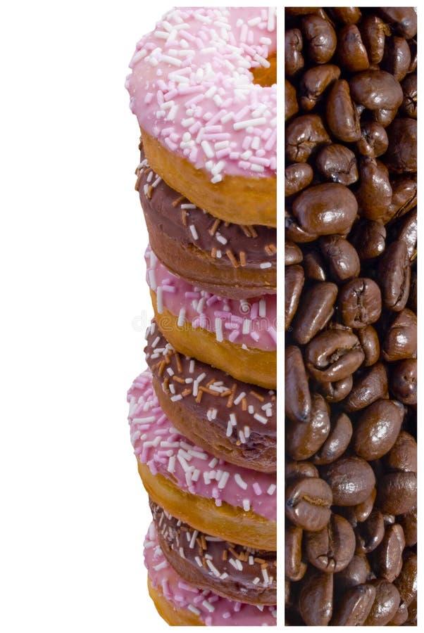 Grains de café et butées toriques photo libre de droits