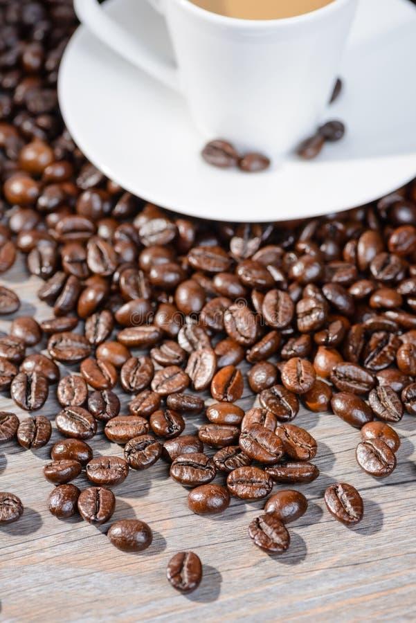 Grains de café grillés photographie stock