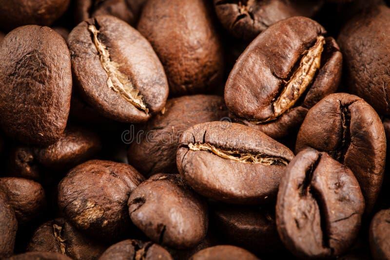 Grains de café macro images libres de droits