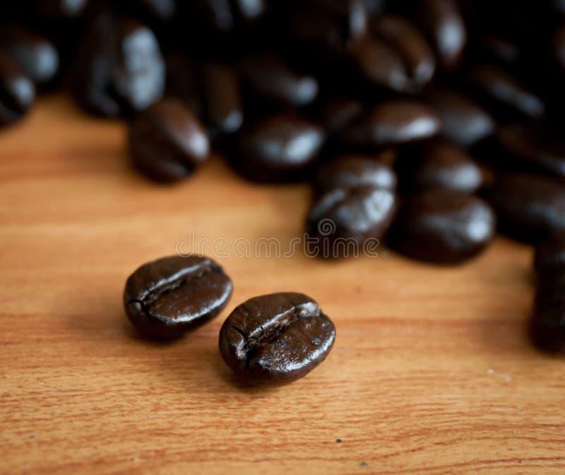 Grains de café rôtis. photographie stock
