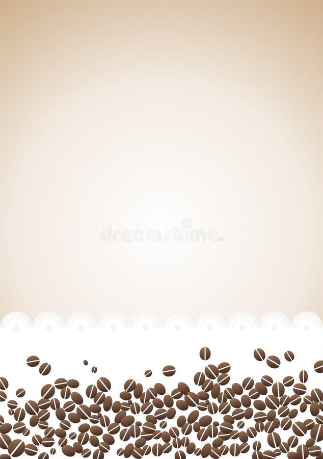 Grains de café sur le fond de serviette illustration libre de droits