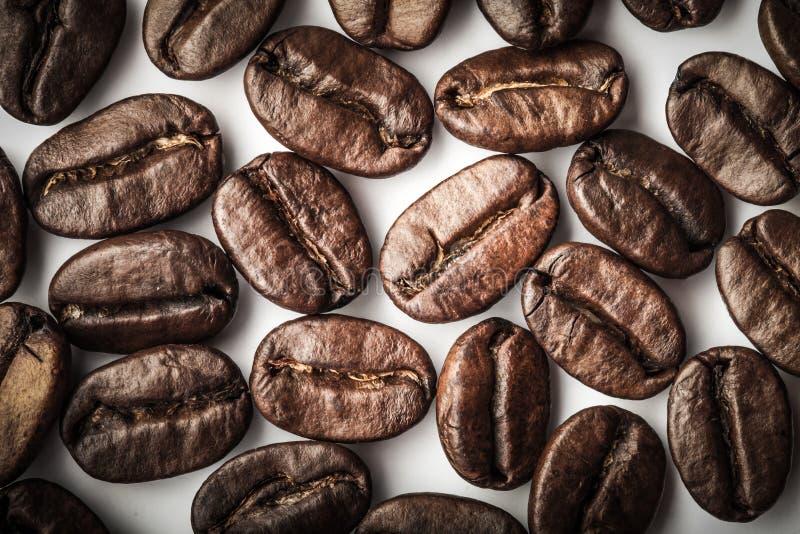 Grains de café sur un blanc photo libre de droits